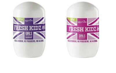 Keep It Kind FRESH KIDZ Natural Deodorant Girl Choose PINK Or PURPLE BUY 2 GET 1