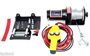 12V-2000-LB-CAPACITY-POWER-CABLE-ATV-WINCH-KIT-12-VOLT-RECOVERY-TOWING-TOW