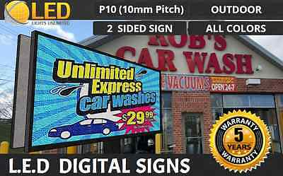 P10 2 Sided 6ft X 12ft Full Color Programmable Led Digital Sign Outdoor Usa