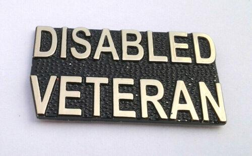 "DISABLED VETERAN (1-1/4"") Military Hero Hat Pin 15996 HO"