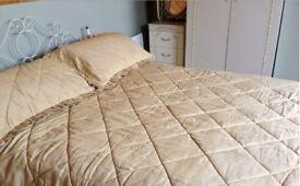 Gold 5ft Beau Duvet and Pillow Shams