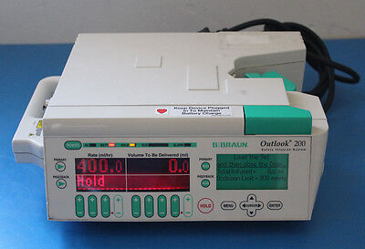 Bbraun Outlook 200 Iv Infus Pump With Dosescan 620-200 Tested