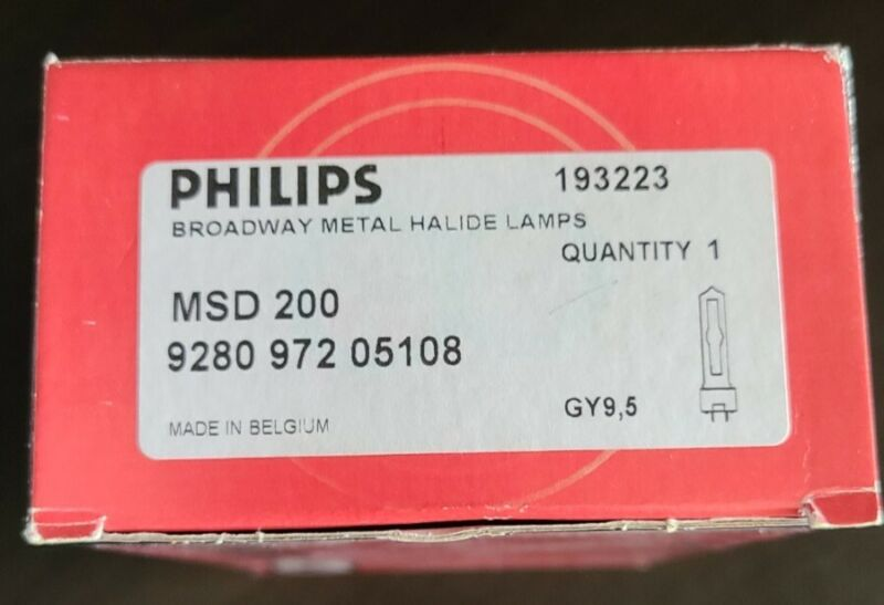 Philips  193223 MSD 200 Broadway Metal Halide Lamps 9280 972 05108