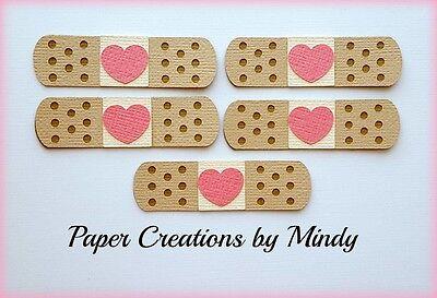 Craftecafe Mindy Bandaid Hospital Nurse premade paper piecing embellishment