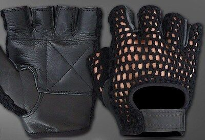 ( All-Purpose Padded Mesh Leather Wheelchair Gloves)