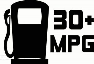 30 mpg miles per gallon car decal funny car vinyl sticker euro jdm diesel turbo ebay. Black Bedroom Furniture Sets. Home Design Ideas