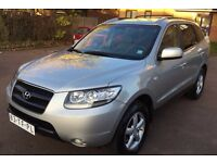 LHD LEFT HAND DRIVE HYUNDAI SANTA FE 2.2 CRDI STYLE AUTOMATIC SILVER 2006 LEATHER IMMACULATE JEEP