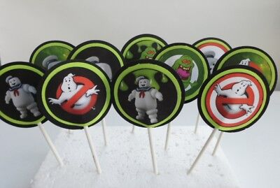 Ghostbusters Cupcake Toppers. Cake decor, party supplies SET OF 12 - Ghostbusters Decorations