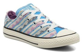 BRAND NEW CONVERSE IN BOX - Ladies UK 5 (Eur 38) Chuck Taylor All Star Ox Spray Paint Blue
