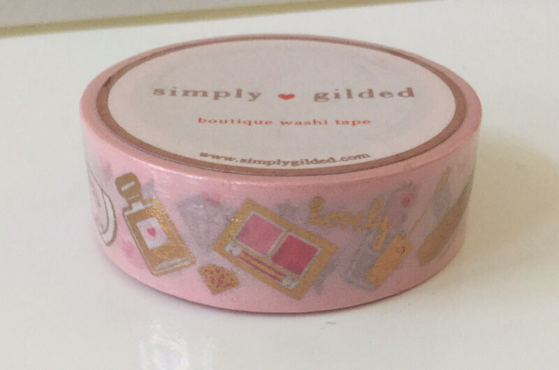 Simply Gilded~Makeup Washi Tape~Beauty~Pink~Gold Foil~Sold Out!
