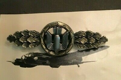 LUFTWAFFE FLYING CLASP – BOMBER - BRONZE  - GERMAN FEDERAL REPUBLIC  PATTERN