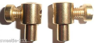 Pear type solderless cable nipple 1/4