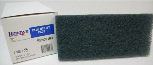 Renown Utility Abrasive Pad Black Heavy Duty Scrubbing/Stripping 5/Pack