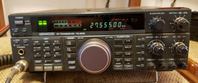 KENWOOD TS-450S HF HAM RADIO TRANSCEIVER W/ Original Box, Chords, Manual, Mic