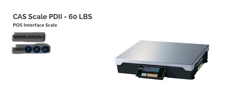 CAS PD-11. Weight Scale
