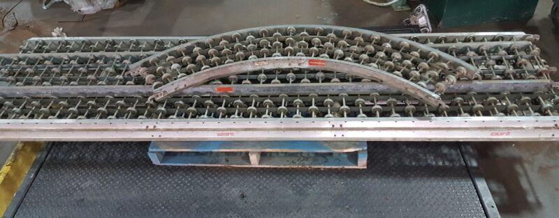 Rapistan Rapid Wheel Roller Skate Wheel Gravity Conveyors 50 ft & 1 45