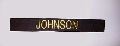 Custom Chocolate - CUSTOM CHOCOLATE BROWN EMBROIDERED NAME TAPE VARIOUS COLOR LETTERS Velcro®