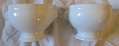 Revol Lion's Head Soup Bowls with Paper Labels (2)](Paper Soup Bowls)