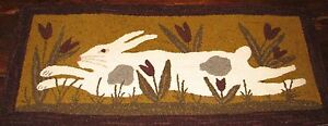 PRIMITIVE-HOOKED-RUG-HOOKING-KIT-THROUGH-THE-TULIPS-LEAPING-BUNNY