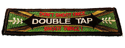 Dont Tap - Double Tap Don't Shoot Once, Shoot Twice Tactical Hook/loop Morale Patch