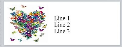Personalized Address Labels Heart Of Butterflies Buy 3 Get 1 Free Bx 831
