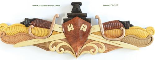 NAVY SURFACE WARFARE OFFICER (SWO) -  Handcrafted Wood Art Military Plaque