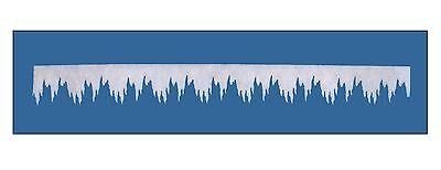 Winterdeko EISZAPFENGIRLANDE MINI. 200 x 10cm. Aus Schneewatte 0,4cm Art: 86165