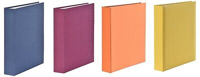 Extra Large Linen Cover Slip In Photo Album Holds 600 6 x 4 Photos Tangy Colours