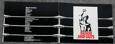 BLOOD AND GUTS original 1978 sales brochure WILLIAM SMITH/BRIAN PATRICK CLARKE