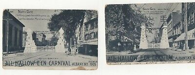 2-Real Photo Postcards  For Pearl Street  Albany New York Halloween Festival c05