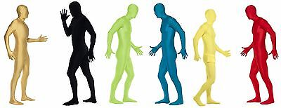 Mens Nude Suit Second Skin Tight Zentai Body Spandex Jumpsuit Adult Bodysuit NEW