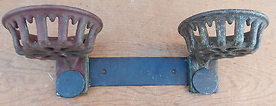 Vintage Repurposed Cast Iron Tractor Part Planter Holders Ironage