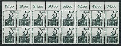 Berlin 795 postfrisch SWK 16 - er Block Oberrand Viererblock Sehenswürdigkeiten