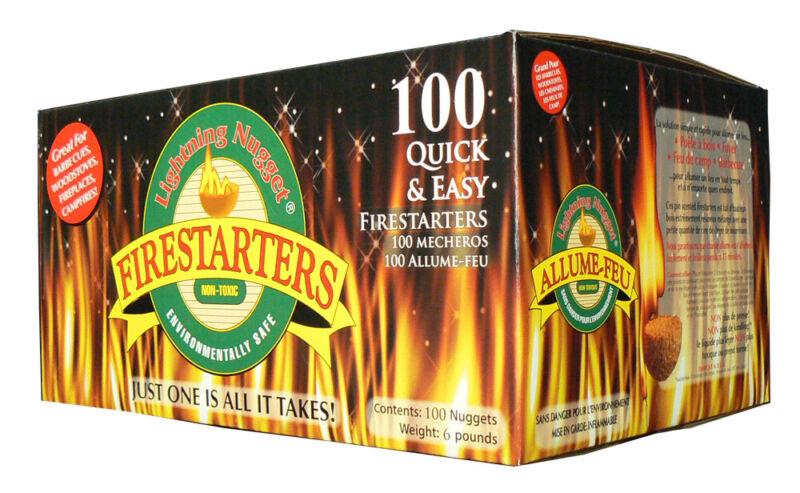 Lightning Nugget Quick & Easy Firestarters 100 Count