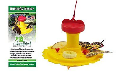 Songbird Essentials Butterfly Feeder and Nectar Combo