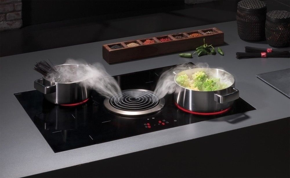 Bora bia induction hob with built in extractor ex - Piano induzione bora ...
