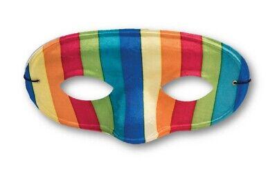 Rainbow Domino Half Mask Festival Carnival Masquerade Adult Costume Accessory](Domino Masquerade Costume)