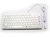 White Mini USB Keyboard