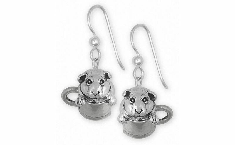 Guinea Pig Earrings Jewelry Sterling Silver Handmade Piggie Earrings GP9-E