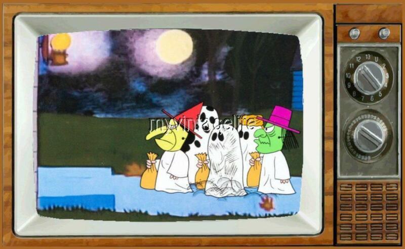 """CHARLIE BROWN HALLOWEEN TV Fridge MAGNET 2"""" x 3"""" art great pumpkin cartoon"""