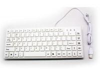 White Mini USB Keyboard