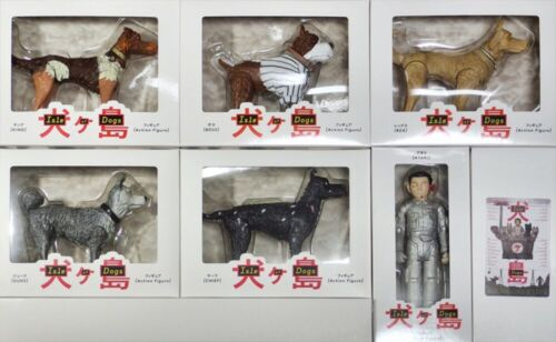 Film Isle of Dogs Figure Complete Set Wes Anderson Atari dog doll toy box RARE