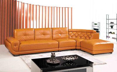 4-Piece Modern Leather Sectional Sofa Set SA3602B