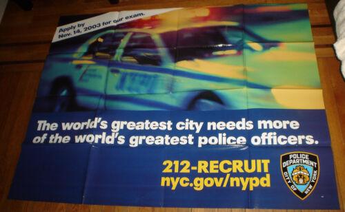 NYPD 2003 SUBWAY RECRUITMENT POSTER RARE POLICE