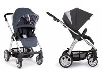 Mama's and Papas SOLA denim travel system with accessories **over £1000 new **