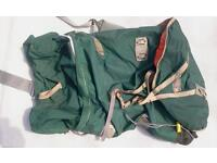 Cyclops well used strong large green rucksack, internal frame, lots of room.
