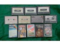 Vintage tape cassette games and software