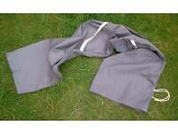 Large grey cotton carry bag, vgc