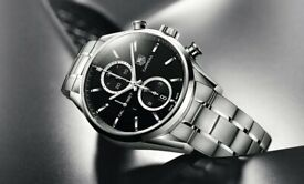 Tag Heuer 1887 Carrera Watch Automatic Chronograph leather strap Black 41mm CAR2110-4 ⏱ £2495