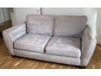 NEXT 2 seater sofa - violet/grey